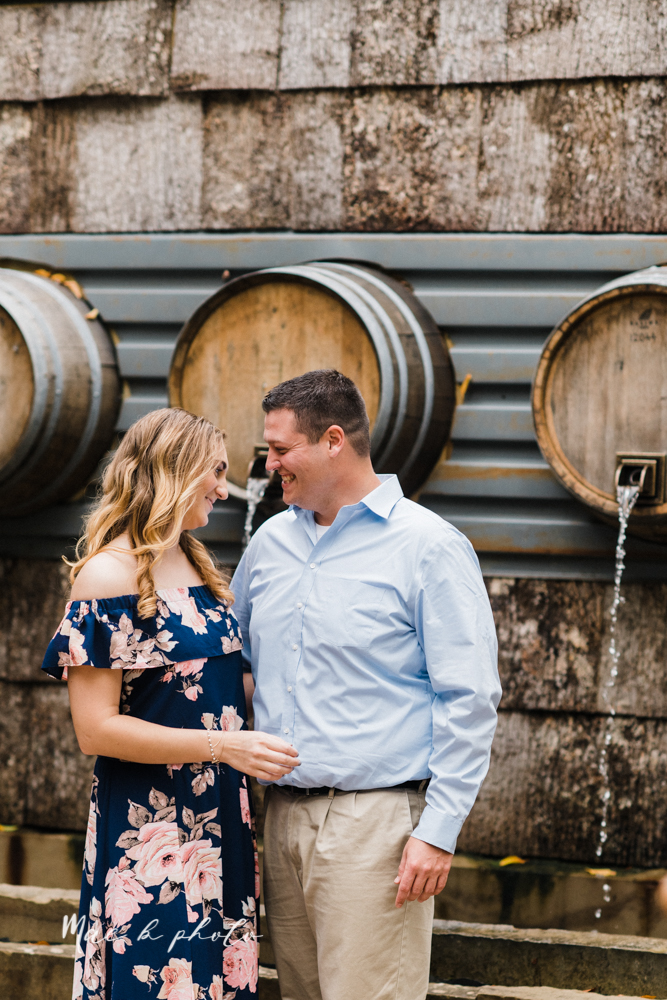 erin and shawn's fall Cleveland winery engagement session at sapphire creek winery photographed by youngstown wedding photographer mae b photo-4.jpg