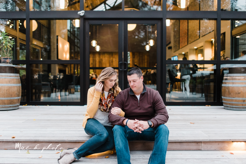 erin and shawn's fall Cleveland winery engagement session at sapphire creek winery photographed by youngstown wedding photographer mae b photo-39.jpg