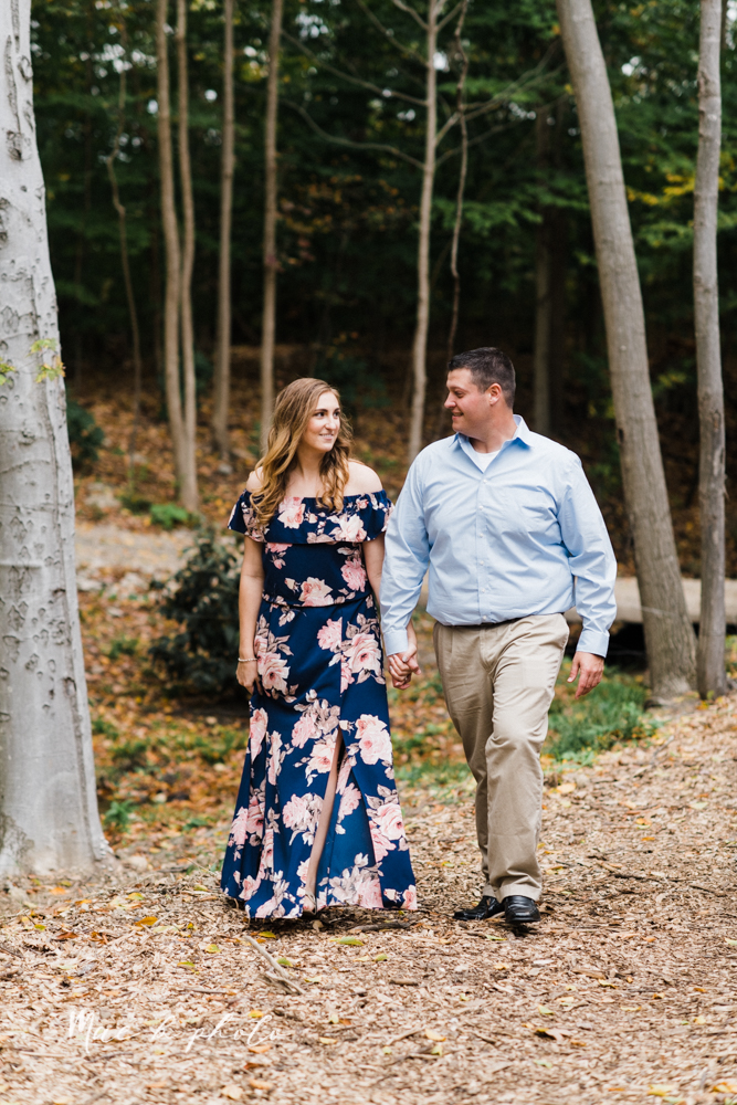 erin and shawn's fall Cleveland winery engagement session at sapphire creek winery photographed by youngstown wedding photographer mae b photo-14.jpg