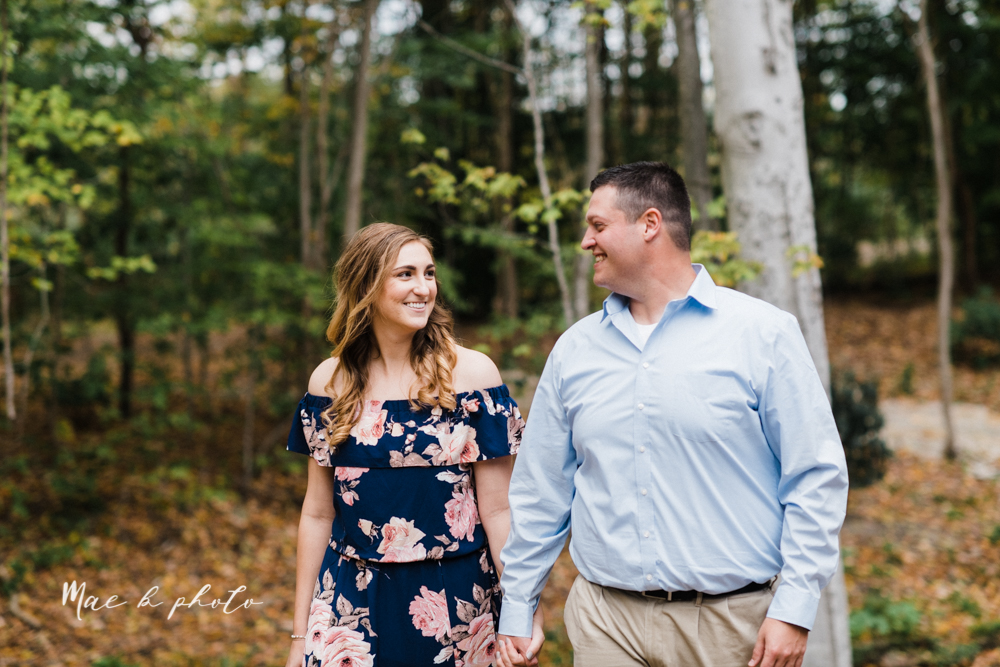 erin and shawn's fall Cleveland winery engagement session at sapphire creek winery photographed by youngstown wedding photographer mae b photo-15.jpg