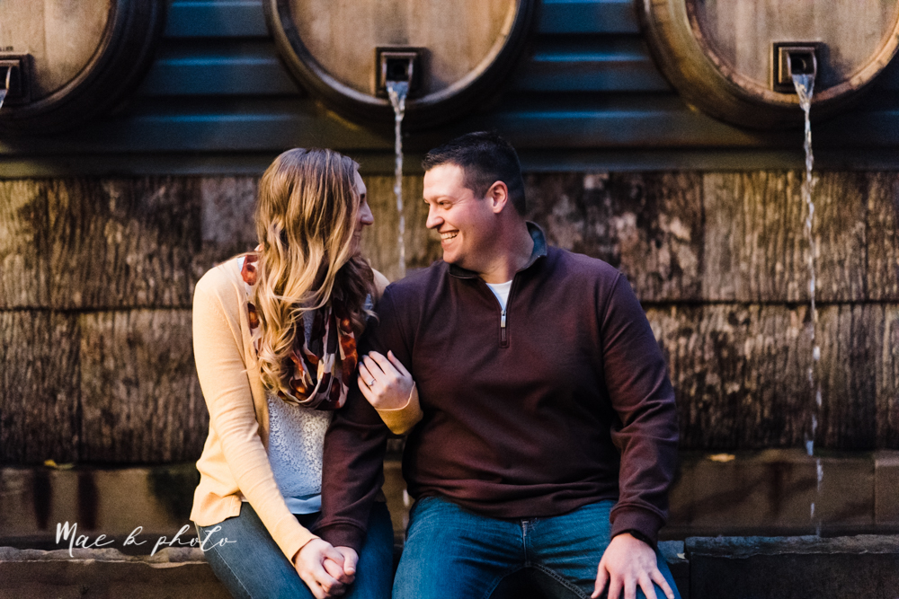 erin and shawn's fall Cleveland winery engagement session at sapphire creek winery photographed by youngstown wedding photographer mae b photo-54.jpg
