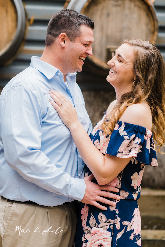 erin and shawn's fall Cleveland winery engagement session at sapphire creek winery photographed by youngstown wedding photographer mae b photo-11.jpg