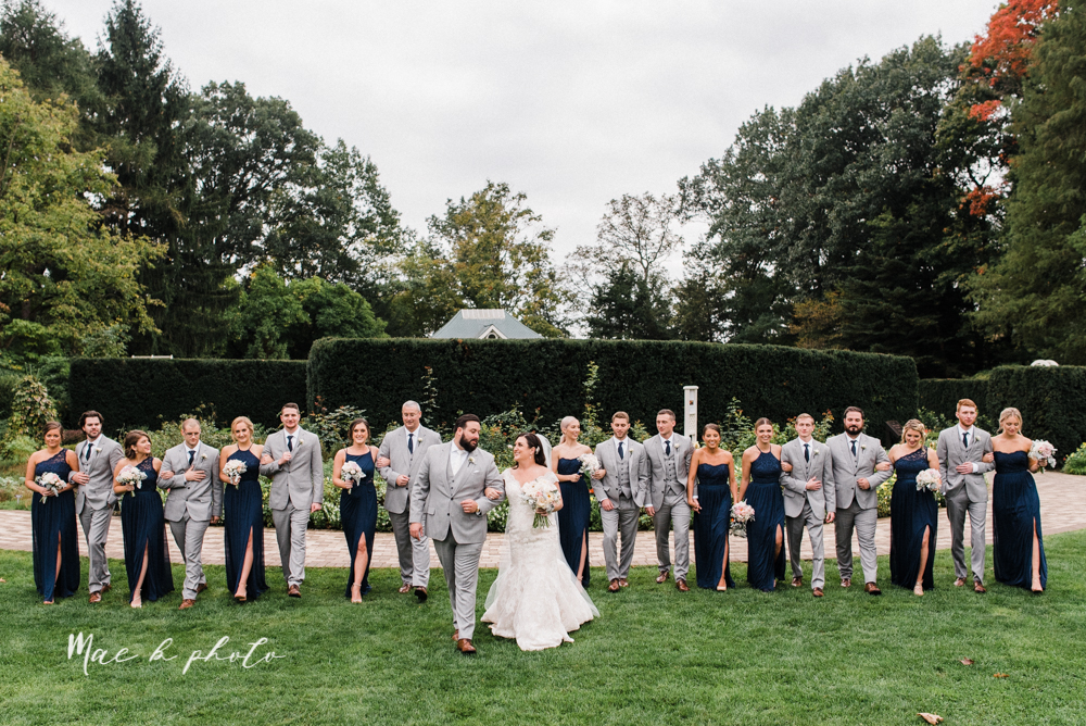 casey and matt's big fun italian fall wedding at st robert's church in cortland ohio and avion on the water in youngstown ohio and fellows riverside gardens in mill creek park photographed by youngstown wedding photographer mae b photo -108.jpg