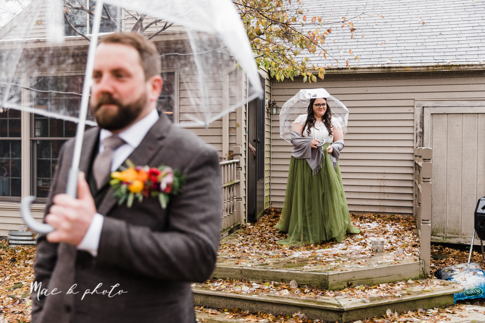 kaitlin and brad's offbeat winter harry potter the hobbit lord of the rings themed wedding at mapleside lodge in brunswick ohio photographed by youngstown wedding photographer mae b photo-219.jpg