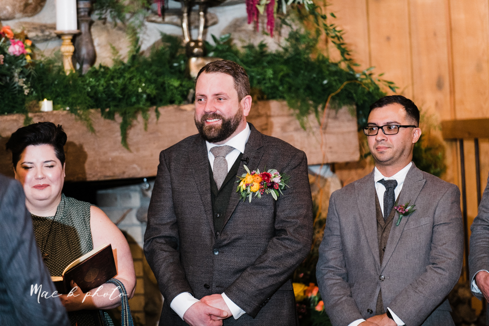 kaitlin and brad's offbeat winter harry potter the hobbit lord of the rings themed wedding at mapleside lodge in brunswick ohio photographed by youngstown wedding photographer mae b photo-83.jpg