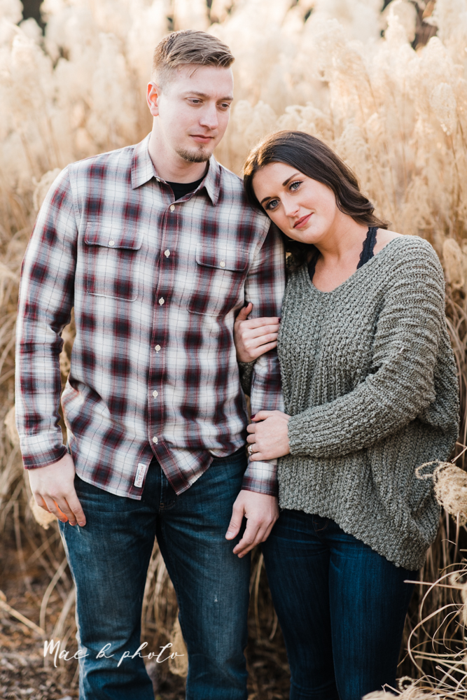 shelby and tyler's winter engagement session in northeast ohio at the cinderella bridge silver bridge and lanterman's mill in mill creek park in youngstown ohio photographed by youngstown wedding photographer mae b photo-37.jpg