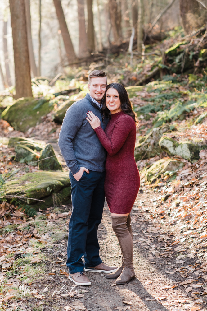 shelby and tyler's winter engagement session in northeast ohio at the cinderella bridge silver bridge and lanterman's mill in mill creek park in youngstown ohio photographed by youngstown wedding photographer mae b photo-9.jpg