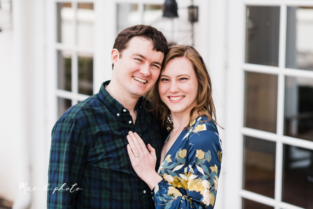 christina and michael's hometown woodsy playful early spring engagement session at poland forest in poland ohio and poland library and handels ice cream in canfield ohio photographed by youngstown wedding photographer mae b photo-41.jpg