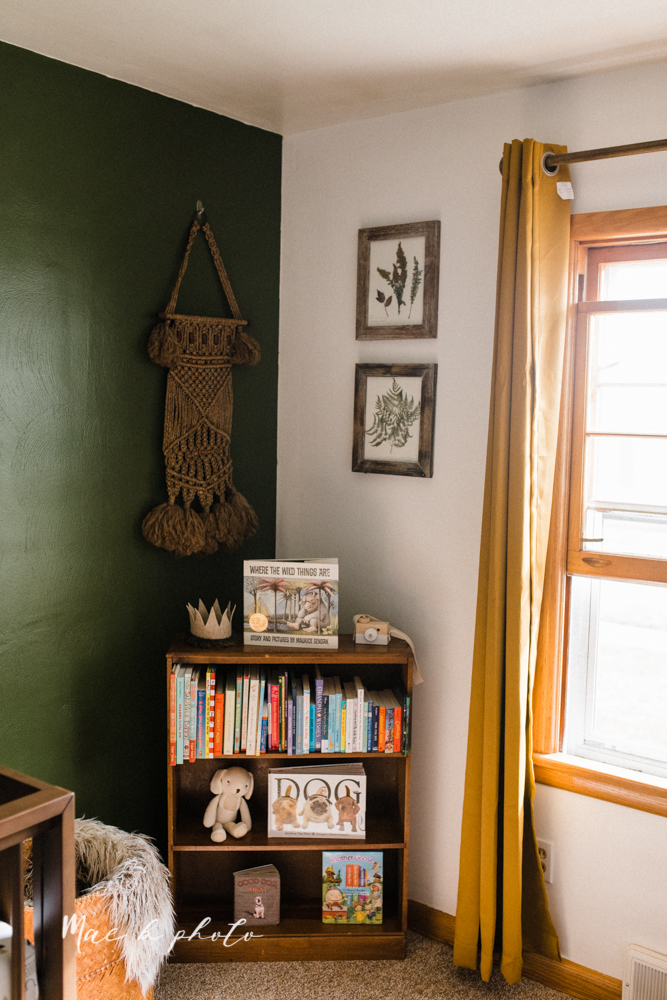 earthy gender neutral woodsy woodland themed nursery with game of thrones, guardians of the galaxy, diy crafts, where the wild things are and photography details and decor photographed by youngstown wedding photographer mae b photo-3.jpg