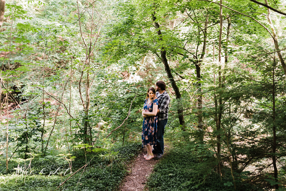 kirsten and noll's intimate woodsy engagement session at lanterman's mill in mill creek park in youngstown ohio photographed by youngstown wedding photographer mae b photo-23.jpg