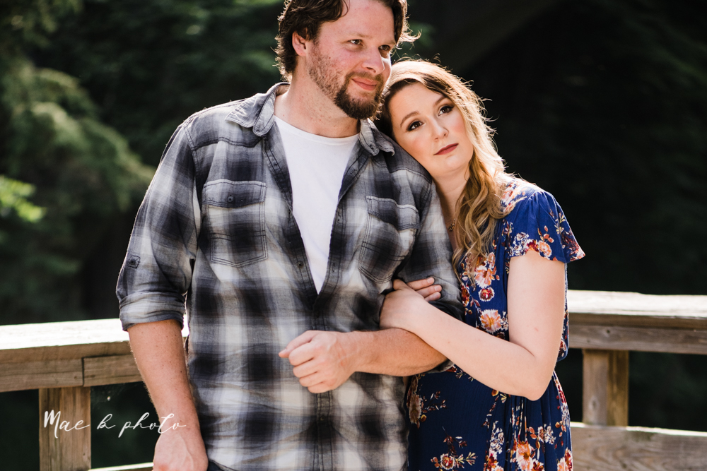 kirsten and noll's intimate woodsy engagement session at lanterman's mill in mill creek park in youngstown ohio photographed by youngstown wedding photographer mae b photo-17.jpg