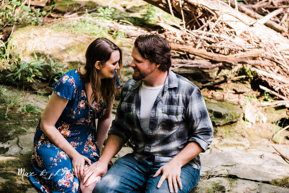 kirsten and noll's intimate woodsy engagement session at lanterman's mill in mill creek park in youngstown ohio photographed by youngstown wedding photographer mae b photo-26.jpg