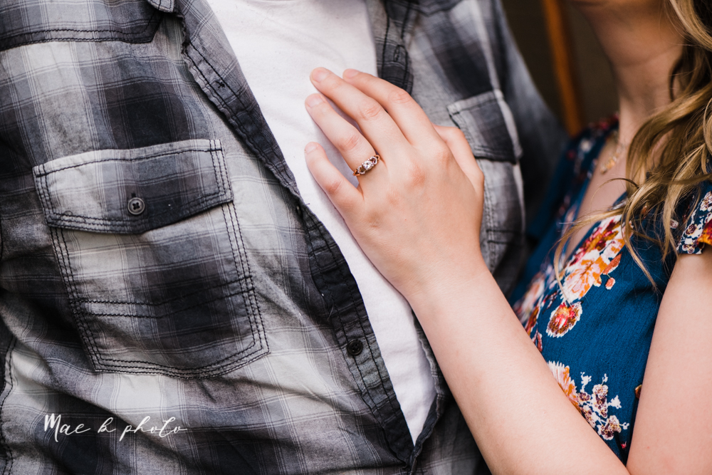 kirsten and noll's intimate woodsy engagement session at lanterman's mill in mill creek park in youngstown ohio photographed by youngstown wedding photographer mae b photo-10.jpg