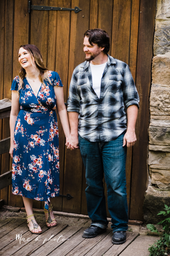 kirsten and noll's intimate woodsy engagement session at lanterman's mill in mill creek park in youngstown ohio photographed by youngstown wedding photographer mae b photo-15.jpg
