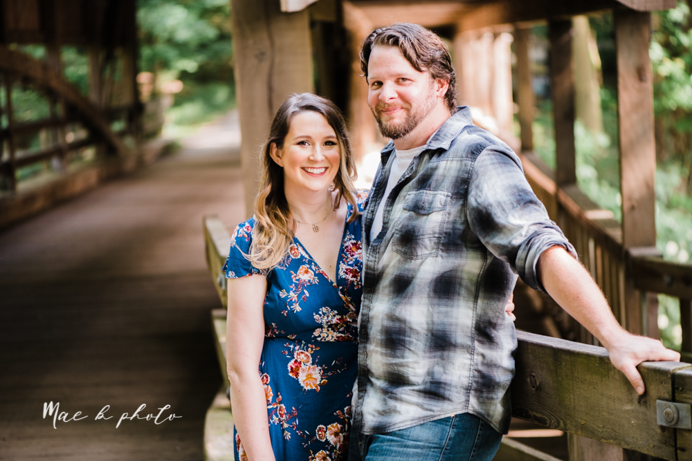 kirsten and noll's intimate woodsy engagement session at lanterman's mill in mill creek park in youngstown ohio photographed by youngstown wedding photographer mae b photo-8.jpg