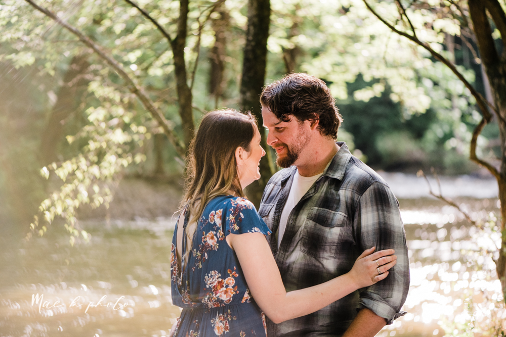 kirsten and noll's intimate woodsy engagement session at lanterman's mill in mill creek park in youngstown ohio photographed by youngstown wedding photographer mae b photo-33.jpg