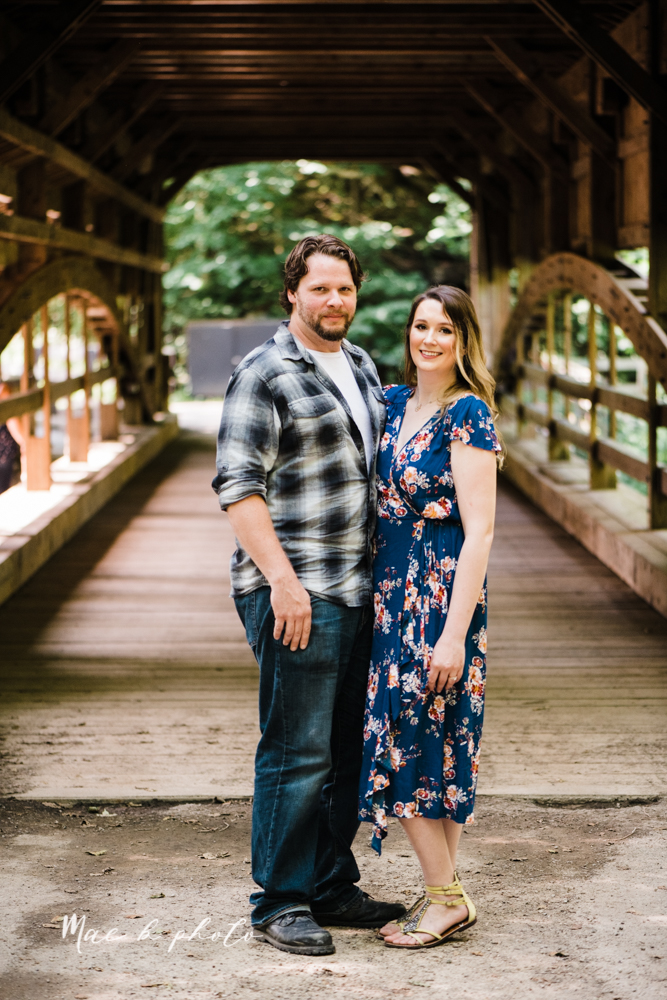 kirsten and noll's intimate woodsy engagement session at lanterman's mill in mill creek park in youngstown ohio photographed by youngstown wedding photographer mae b photo-1.jpg
