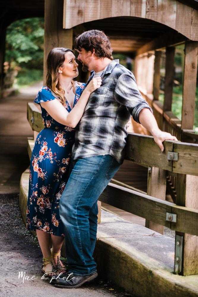 kirsten and noll's intimate woodsy engagement session at lanterman's mill in mill creek park in youngstown ohio photographed by youngstown wedding photographer mae b photo-9.jpg