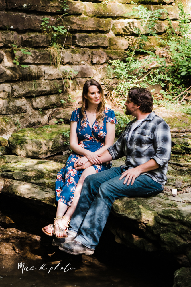 kirsten and noll's intimate woodsy engagement session at lanterman's mill in mill creek park in youngstown ohio photographed by youngstown wedding photographer mae b photo-24.jpg