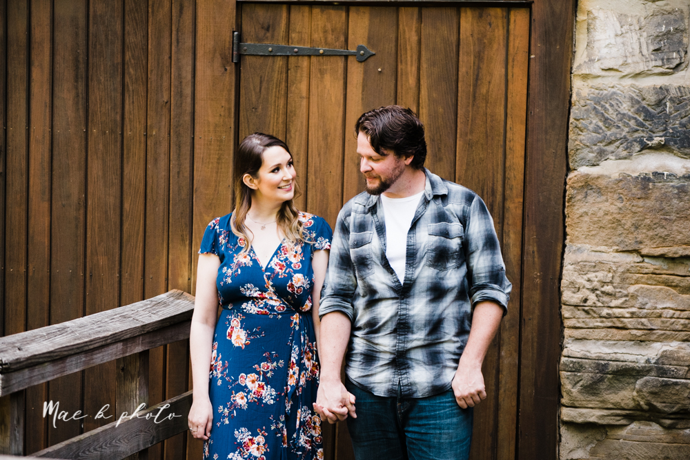 kirsten and noll's intimate woodsy engagement session at lanterman's mill in mill creek park in youngstown ohio photographed by youngstown wedding photographer mae b photo-13.jpg