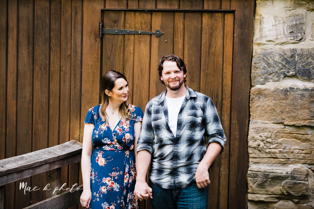 kirsten and noll's intimate woodsy engagement session at lanterman's mill in mill creek park in youngstown ohio photographed by youngstown wedding photographer mae b photo-14.jpg