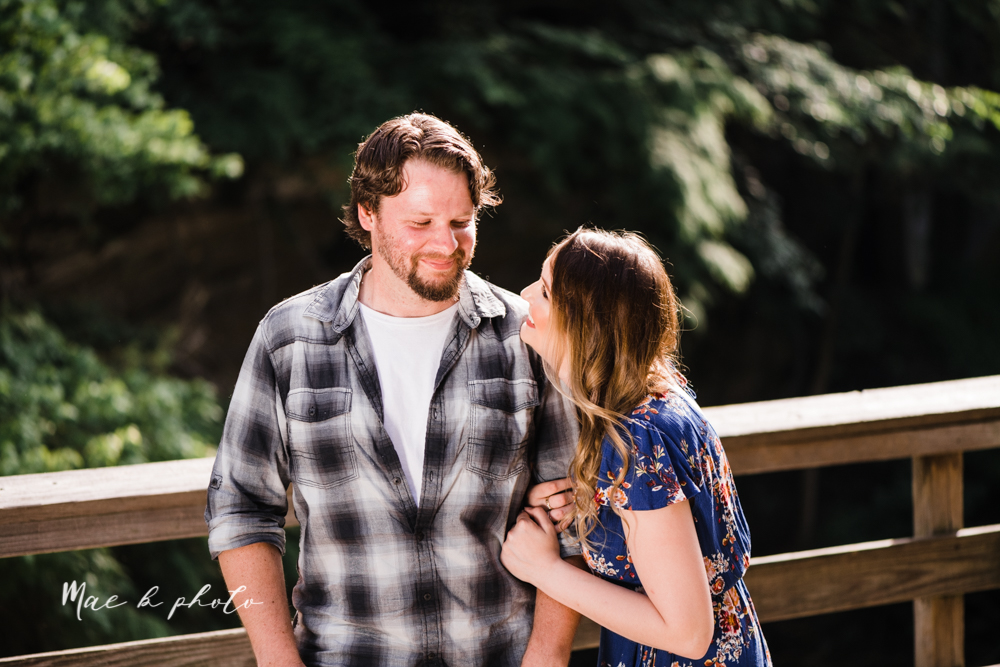 kirsten and noll's intimate woodsy engagement session at lanterman's mill in mill creek park in youngstown ohio photographed by youngstown wedding photographer mae b photo-20.jpg