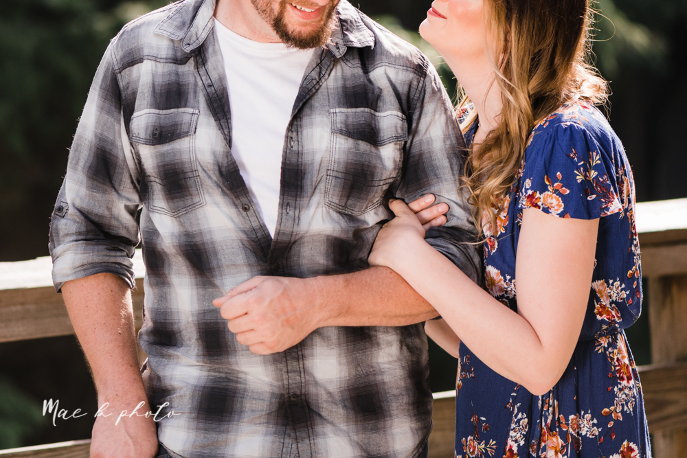 kirsten and noll's intimate woodsy engagement session at lanterman's mill in mill creek park in youngstown ohio photographed by youngstown wedding photographer mae b photo-18.jpg