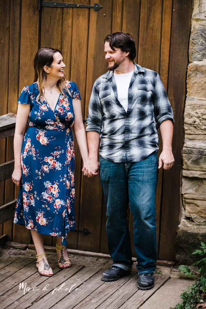 kirsten and noll's intimate woodsy engagement session at lanterman's mill in mill creek park in youngstown ohio photographed by youngstown wedding photographer mae b photo-16.jpg
