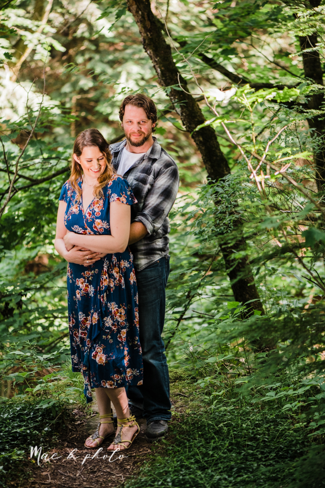 kirsten and noll's intimate woodsy engagement session at lanterman's mill in mill creek park in youngstown ohio photographed by youngstown wedding photographer mae b photo-21.jpg