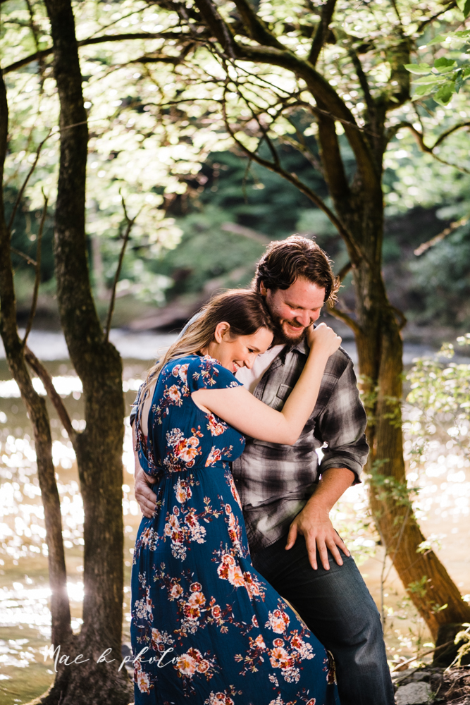 kirsten and noll's intimate woodsy engagement session at lanterman's mill in mill creek park in youngstown ohio photographed by youngstown wedding photographer mae b photo-29.jpg