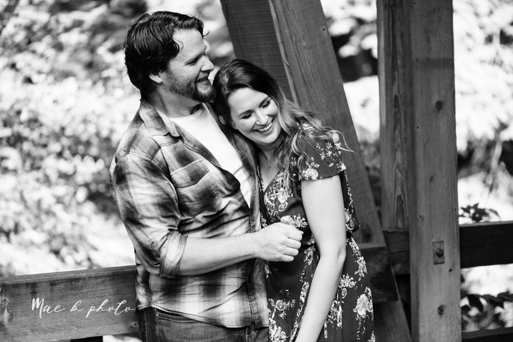kirsten and noll's intimate woodsy engagement session at lanterman's mill in mill creek park in youngstown ohio photographed by youngstown wedding photographer mae b photo-11.jpg