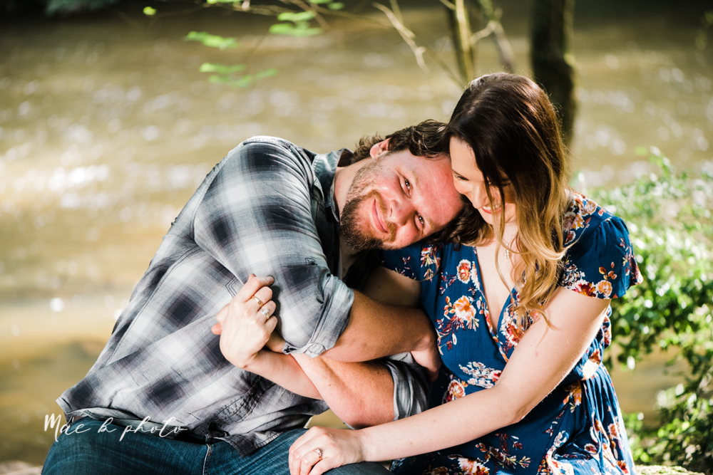 kirsten and noll's intimate woodsy engagement session at lanterman's mill in mill creek park in youngstown ohio photographed by youngstown wedding photographer mae b photo-35.jpg