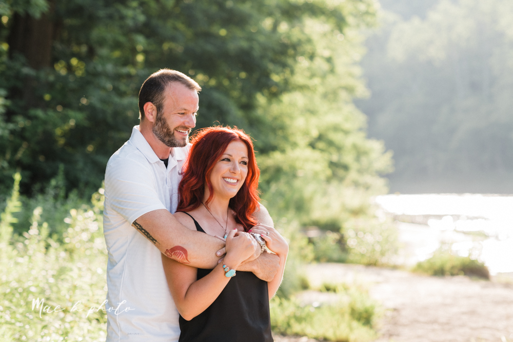 lisa and john's summer lake side engagement session at geneva on the lake in geneva ohio and the harpersfield covered bridge in harpersfield ohio photographed by youngstown wedding photographer mae b photo-8.jpg