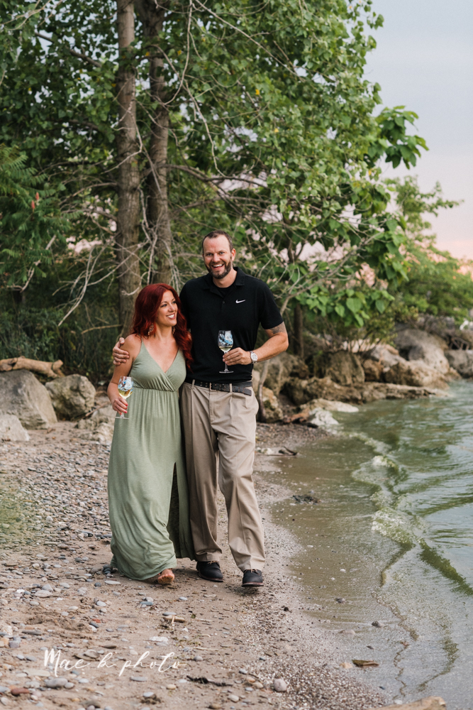 lisa and john's summer lake side engagement session at geneva on the lake in geneva ohio and the harpersfield covered bridge in harpersfield ohio photographed by youngstown wedding photographer mae b photo-42.jpg