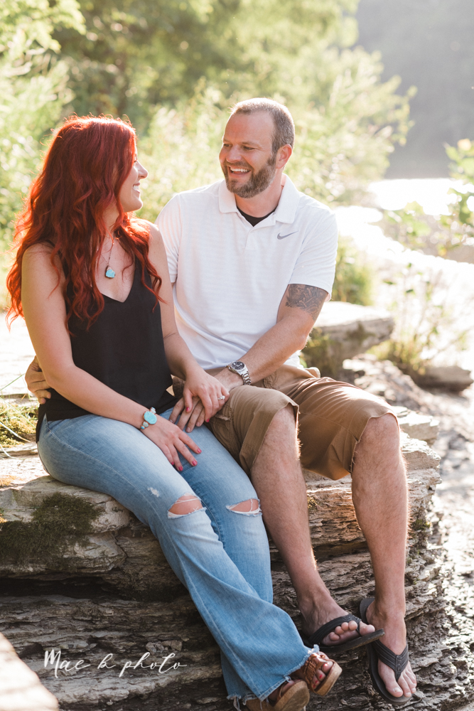 lisa and john's summer lake side engagement session at geneva on the lake in geneva ohio and the harpersfield covered bridge in harpersfield ohio photographed by youngstown wedding photographer mae b photo-16.jpg