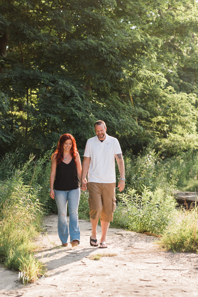 lisa and john's summer lake side engagement session at geneva on the lake in geneva ohio and the harpersfield covered bridge in harpersfield ohio photographed by youngstown wedding photographer mae b photo-9.jpg