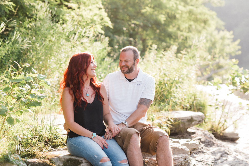 lisa and john's summer lake side engagement session at geneva on the lake in geneva ohio and the harpersfield covered bridge in harpersfield ohio photographed by youngstown wedding photographer mae b photo-14.jpg