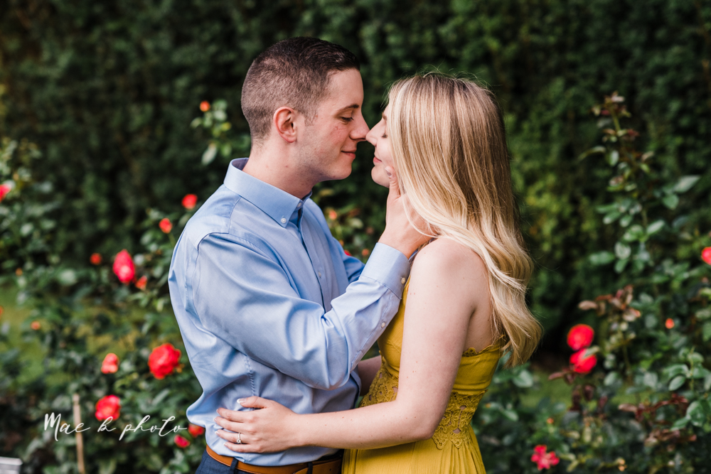julie and jared's romantic summer garden engagement session at rivers fellowside gardens in mill creek park in the rose gardens in youngstown ohio photographed by youngstown wedding photographer mae b photo-25.jpg