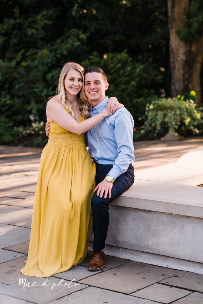 julie and jared's romantic summer garden engagement session at rivers fellowside gardens in mill creek park in the rose gardens in youngstown ohio photographed by youngstown wedding photographer mae b photo-38.jpg