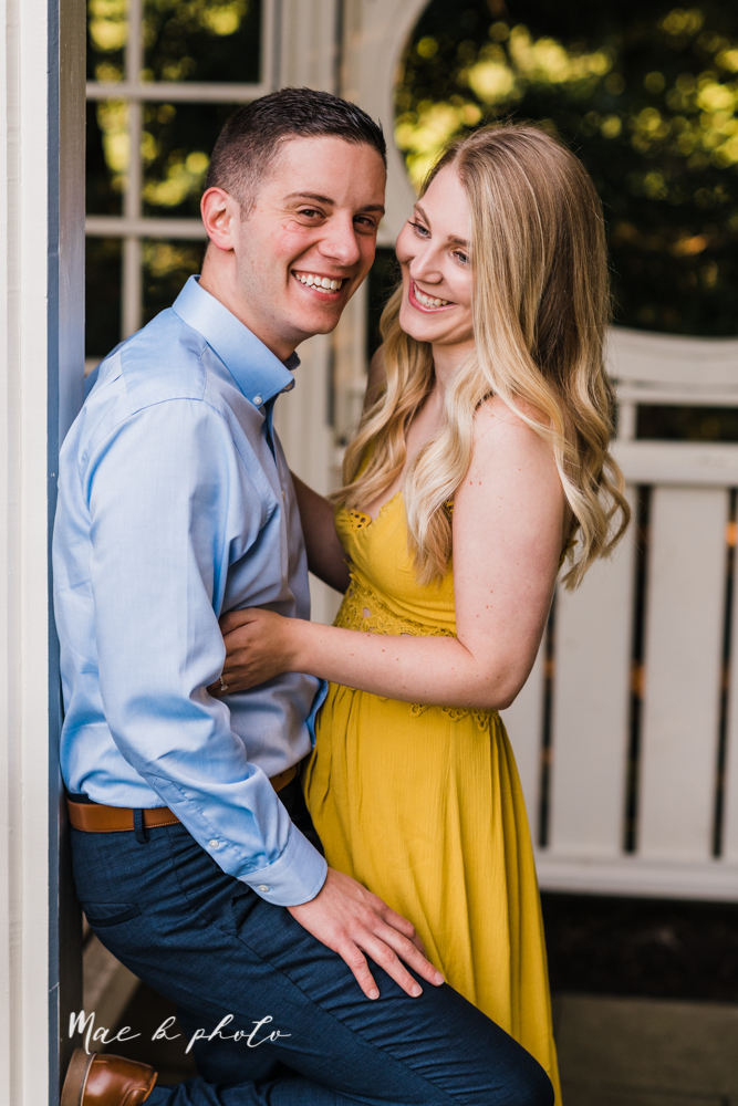 julie and jared's romantic summer garden engagement session at rivers fellowside gardens in mill creek park in the rose gardens in youngstown ohio photographed by youngstown wedding photographer mae b photo-20.jpg