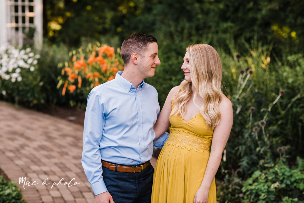 julie and jared's romantic summer garden engagement session at rivers fellowside gardens in mill creek park in the rose gardens in youngstown ohio photographed by youngstown wedding photographer mae b photo-3.jpg