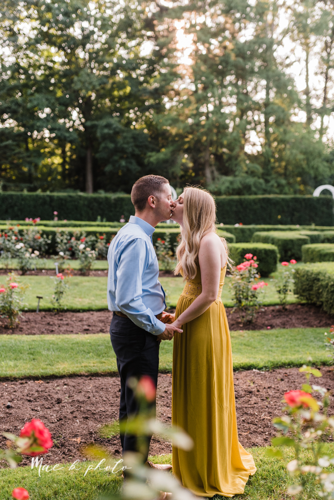 julie and jared's romantic summer garden engagement session at rivers fellowside gardens in mill creek park in the rose gardens in youngstown ohio photographed by youngstown wedding photographer mae b photo-22.jpg