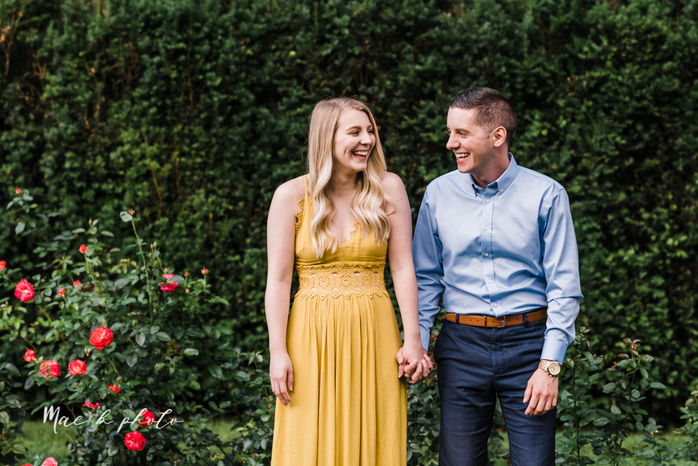 julie and jared's romantic summer garden engagement session at rivers fellowside gardens in mill creek park in the rose gardens in youngstown ohio photographed by youngstown wedding photographer mae b photo-24.jpg
