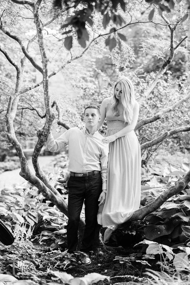 julie and jared's romantic summer garden engagement session at rivers fellowside gardens in mill creek park in the rose gardens in youngstown ohio photographed by youngstown wedding photographer mae b photo-47.jpg