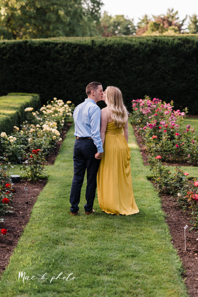 julie and jared's romantic summer garden engagement session at rivers fellowside gardens in mill creek park in the rose gardens in youngstown ohio photographed by youngstown wedding photographer mae b photo-30.jpg