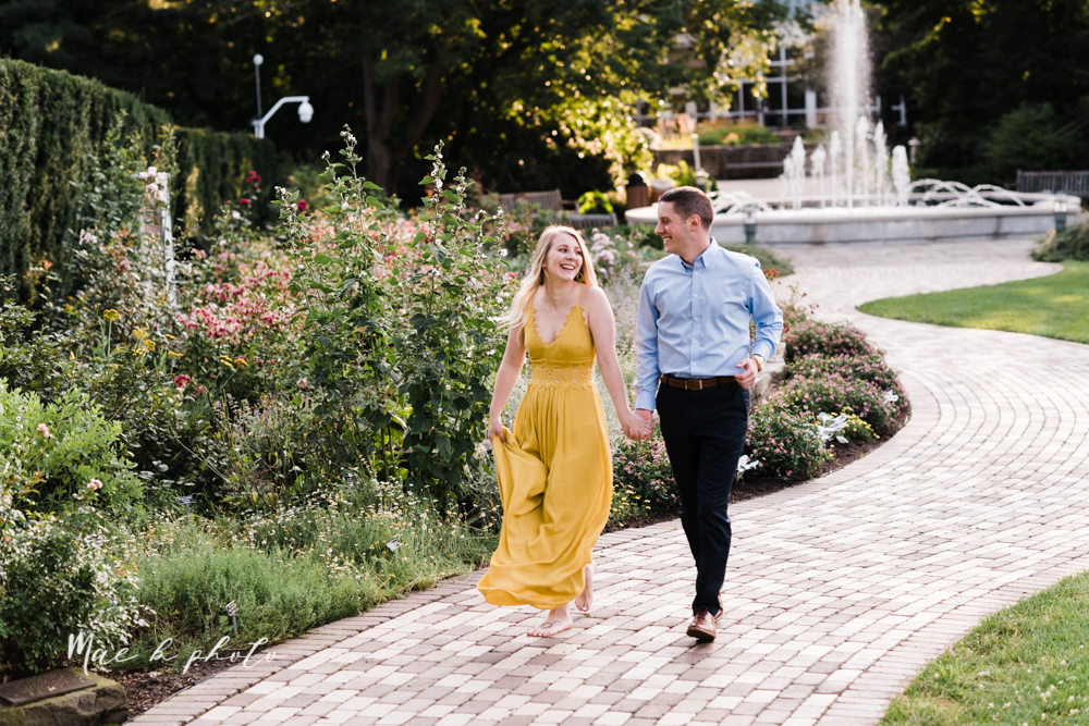 julie and jared's romantic summer garden engagement session at rivers fellowside gardens in mill creek park in the rose gardens in youngstown ohio photographed by youngstown wedding photographer mae b photo-44.jpg