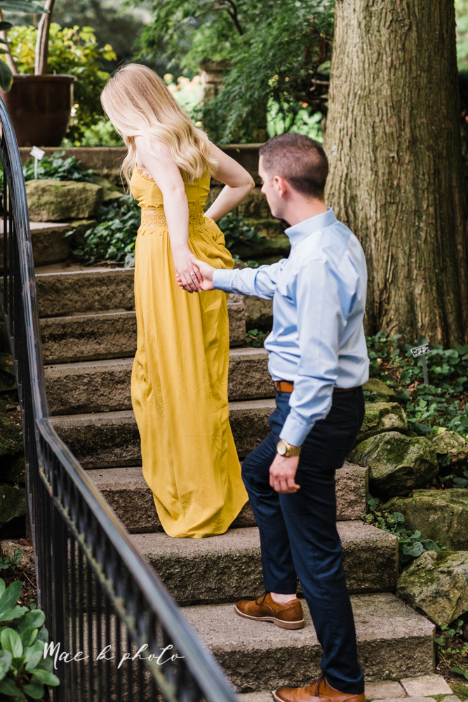 julie and jared's romantic summer garden engagement session at rivers fellowside gardens in mill creek park in the rose gardens in youngstown ohio photographed by youngstown wedding photographer mae b photo-50.jpg