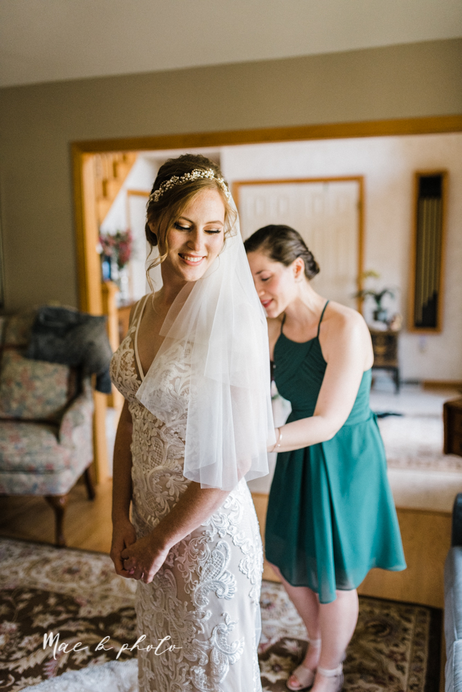 christina and michael's baseball themed midwest wedding at drake's landing and river's fellowside gardens in mill creek park in  youngstown ohio and holy family parish in poland ohio photographed by youngstown wedding photographer mae b photo-18.jpg