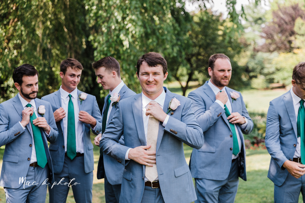 christina and michael's baseball themed midwest wedding at drake's landing and river's fellowside gardens in mill creek park in  youngstown ohio and holy family parish in poland ohio photographed by youngstown wedding photographer mae b photo-165.jpg