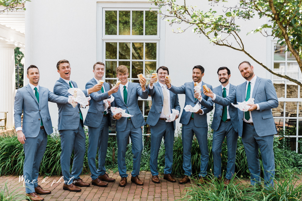 christina and michael's baseball themed midwest wedding at drake's landing and river's fellowside gardens in mill creek park in  youngstown ohio and holy family parish in poland ohio photographed by youngstown wedding photographer mae b photo-156.jpg